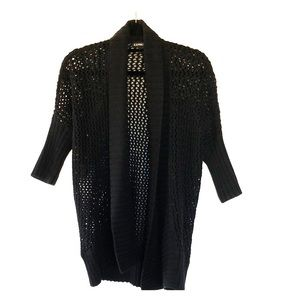 Black open knit cardigan from Express size XS